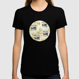 Dad Is Home Retro Midcentury Whiskey Pattern T-shirt