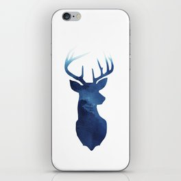 Stag + Blue iPhone Skin