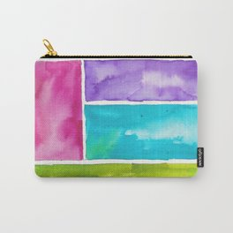 180811 Watercolor Block Swatches 8| Colorful Abstract |Geometrical Art Carry-All Pouch