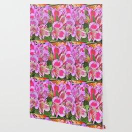 alstroemeria in bloom in spring Wallpaper