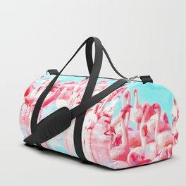 Flamingos tropical illustration Duffle Bag