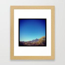 MOUNTAIN BLUE Framed Art Print