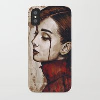 audrey hepburn iPhone & iPod Cases featuring Audrey Hepburn by Olechka