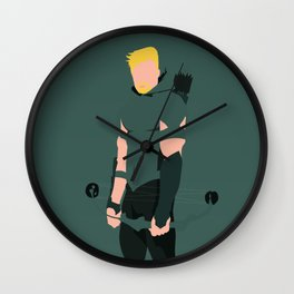 Green Arrow Wall Clock
