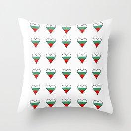 flag of bulgaria 3 -bulgarian, България,български,slav,cyrillic,Sofia,bulgaria Throw Pillow