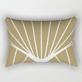 Diamond Series Round Sun Burst White on Gold Rectangular Pillow