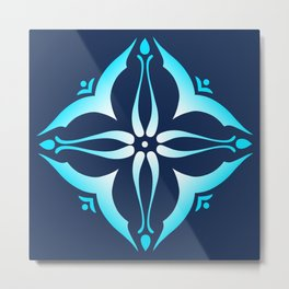 Blue Tile Metal Print