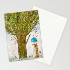 an autumns day Stationery Cards