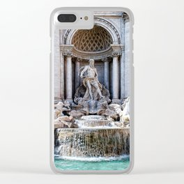 Trevi fountain Clear iPhone Case