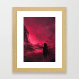 Pink plains Framed Art Print