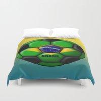 brasil Duvet Covers featuring Brasil Ball by kuuma