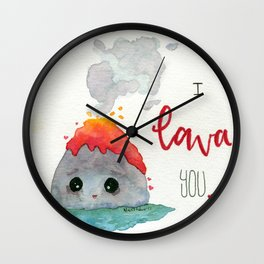 Volcano Love Wall Clock