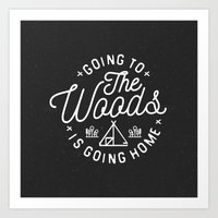 arya Art Prints featuring Going to the Woods is Going Home by Kevin Arya