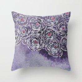 Art-ichoke in purple Throw Pillow
