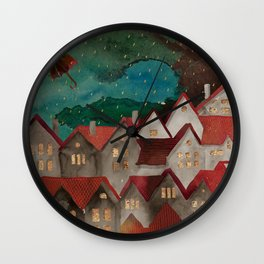 Cozy roof Wall Clock