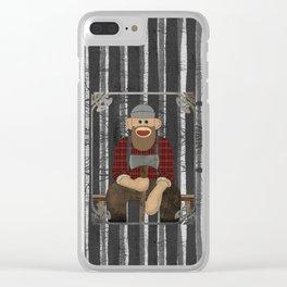 Sockmonkey Lumberjack Clear iPhone Case
