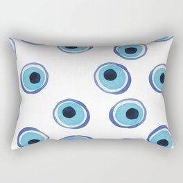 Evil Eye Watercolor Pattern (Mati) Rectangular Pillow