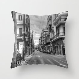 Back Streets of Athens Throw Pillow
