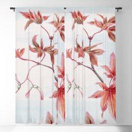 Japanese Maple Leaves Blackout Curtain