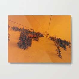 Sunshine Chairlift Metal Print