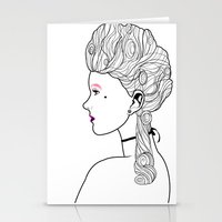 marie antoinette Stationery Cards featuring Marie Antoinette by Nicholas Darby