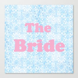 The Bride Pink & Blue Canvas Print