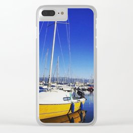 Beautiful day lake Geneva Switzerland Clear iPhone Case