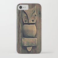 wooden iPhone & iPod Cases featuring Wooden Owl by Dorothy Pinder