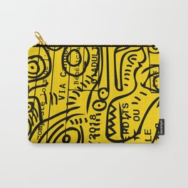 Yellow Street Art Graffiti Train Ticket Carry-All Pouch