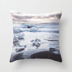 Ice Beach Throw Pillow