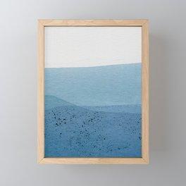 Positive Blue Framed Mini Art Print