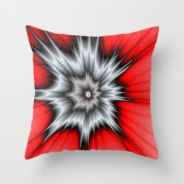 Crazy, Abstract Fractal Art Throw Pillow