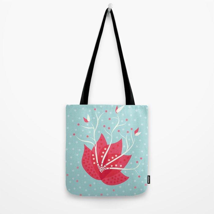 Exotic Winter Flower Tote Bag