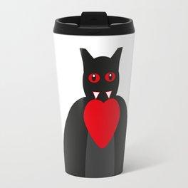 Vampire bat with heart Travel Mug