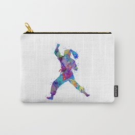 Karate Girl Martial Arts Colorful Watercolor Sports Art Carry-All Pouch