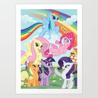 my little pony Art Prints featuring My Little pony by Paul Abstruse