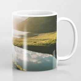 Switzerland Mountain Lake Sunrise - Landscape Photography Coffee Mug