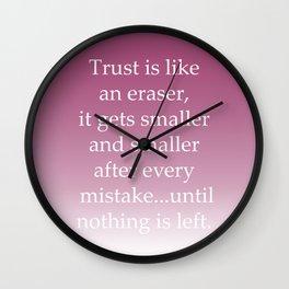 Trust Mistake Wall Clock