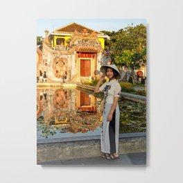 The Ba Mu Temple Gate (Chông Chùa Bà Mu), Hoi An Metal Print