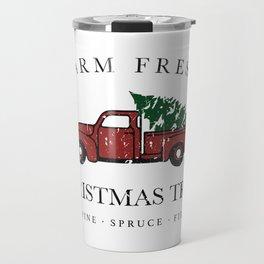 Christmas Tree Farm Vintage Truck Travel Mug