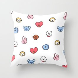 BT21 Sketched Pattern Throw Pillow