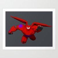 big hero 6 Art Prints featuring Baymax! Big Hero 6 by ZariusArts
