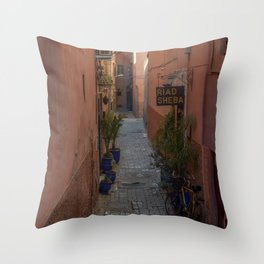 To the Riad (Marrakech) Throw Pillow