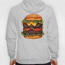 Double Cheeseburger Pattern Hoody