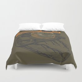 the tell tale heart. green eye Duvet Cover