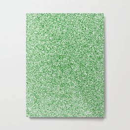Spacey Melange - White and Green Metal Print