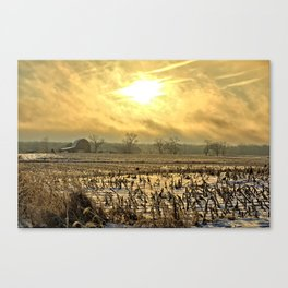 Overcast Sunrise 2 Canvas Print