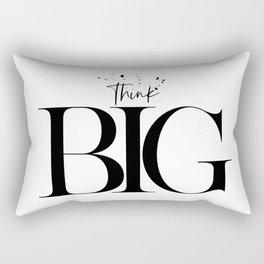 Text Art THINK BIG Rectangular Pillow