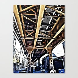 Under the El Tracks Canvas Print