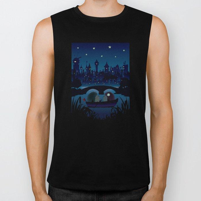 Hedgehogs in the night Biker Tank